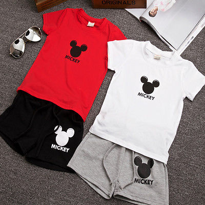 2Pcs Boys Girls Set 2016 Summer style Children clothing sets Baby boys girls t shirts+shorts pants sports suit kids clothes - Icymen