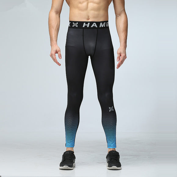 Men Yoga Pants Running Sports Compression Tights Underwear Fitness Gym Jogging Basketball Football Training Pant quick dry