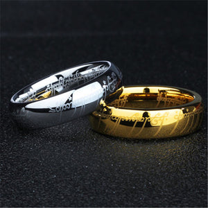 (1 pieces/lot) 100% Tungsten ring 316l Stainless Steel Ring present for men - Icymen
