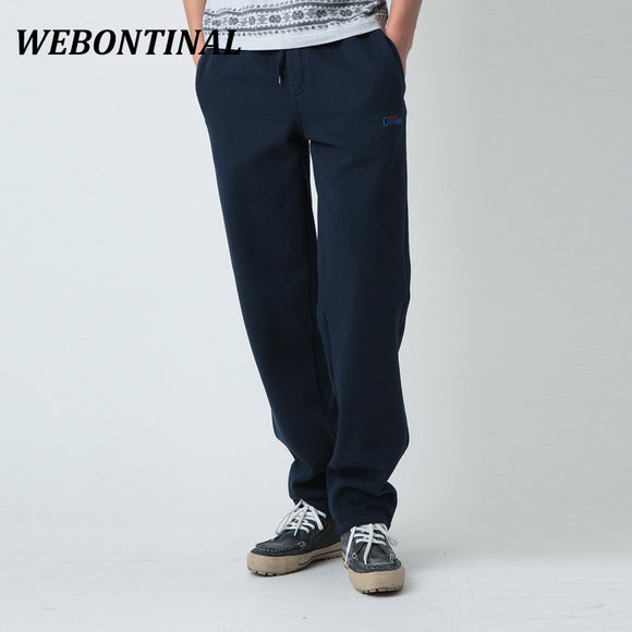 WEBONTINAL Autumn Winter Fleece Warm Sweatpants Jogger Pants For Men Casual Male Trousers Tracksuit Quality Brand Hip Hop Sweat