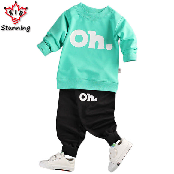 18M-5T Baby Boys Clothing Sets 2017 Spring&Autumn Kids Clothes Casual Boys Girls Clothes Costume Children Clothing Sets for Boys - Icymen