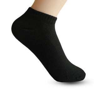 5PairMens Ankle Socks Brand Quality Polyester Summer Mesh Thin Boat Socks For Male White Black Gray Color Short Socks Calcetines - Icymen