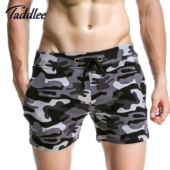 Taddlee Brand Men Jogger Sweatpants Casual Boxers Trunks Men's Activewear Gay Camouflage Beach Shorts Man Short Bottoms Fashion