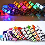 Fashion Pet Collar LED Luminous Night Safety Flashing Glowing Plaid Cat Dog Leash Harness Collars Pets Supplies J2Y - Icymen