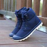 Fooraabo Men Casual Shoes High Top Canvas Shoes 2016 Luxury Outdoors Lace Up Male Shoes With Plus Size 39-46 Wholesale - Icymen