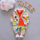 Children Boys Clothes Sets for Girl Baby Suit High Quality Cartoon Spring Autumn Coat+ T shirt +Pants Set Kids Clothing Set 1-4Y - Icymen