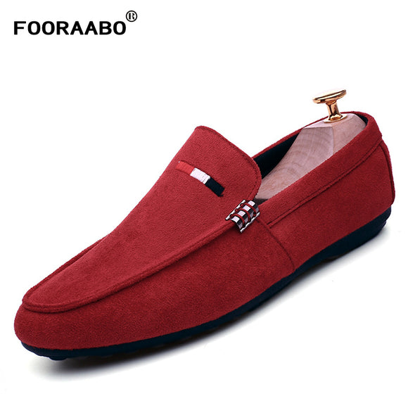 FOORAABO New Casual Shoes Winter Fur Men Loafers 2017 Slip On Fashion Drivers Loafer PU Leather Moccasins Plush Men Shoes - Icymen