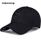 2017 New Letter Superman Cap Casual Outdoor Baseball Caps For Men Hats Women Snapback Caps For Adult Sun Hat Gorras wholesale - Icymen