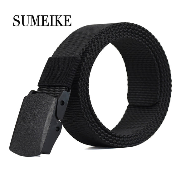 Automatic Buckle Nylon Belt Male Army Tactical Belt Mens Military Waist Canvas Belts Cummerbunds High Quality Strap - Icymen