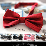 20 Colors  Solid Fashion Bowties Groom Men Colourful Plaid Cravat gravata Male Marriage Butterfly Wedding Bow ties - Icymen