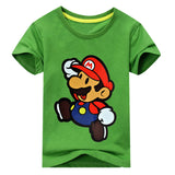 2018 Children New 3D Cartoon Mario Print Short Sleeve T-shirt For Boy Girl 100%Cotton Tshirt Clothes Kid Tee Tops Costume ACY012 - Icymen