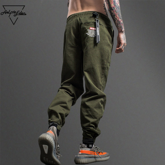 Aelfric Eden Camouflage Tactical Cargo Pants Men Joggers Military Justin Bieber Casual Pants Hip Hop Ribbon Streetwear Trousers - Icymen