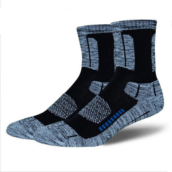 3Pair High Quality Brand CoolMax Socks Male Winter Thermal Warm Socks Men Quick-Dry Breathable Thick Towel Cotton Men's Socks - Icymen