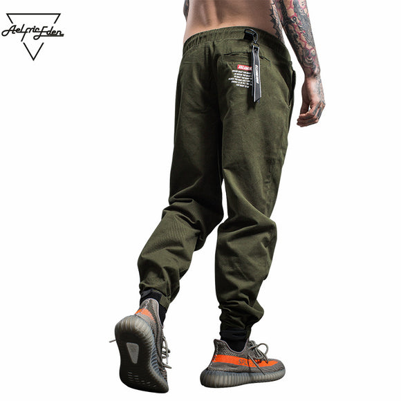 Aelfric Eden Casual Pants Men Joggers Sweatpants Ribbons Cargo Pants Military Style Tactical Trousers Kanye West Streetwear F184 - Icymen