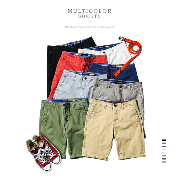 SIMWOOD 2018 Summer New Casual  Shorts Men Cotton  Sim Fit Solid 8 Color Available Knee length  High Quality  KD5064