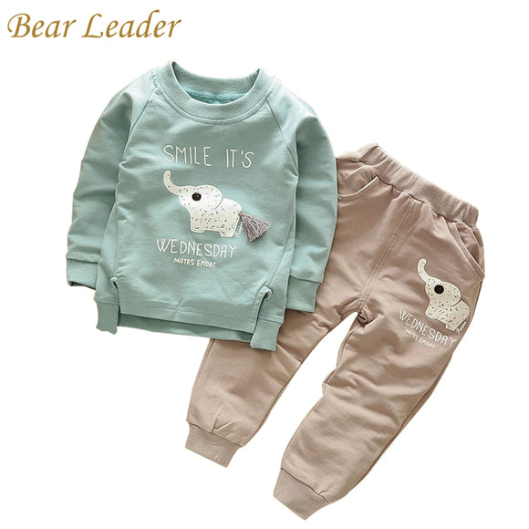 Bear Leader Kid Set 2018 Spring Fashion Style Cartoon Baby Sets Long Sleeve Shirt+Jeans Pants 2Ps Boys Clothes Kids Clothes 1-4y - Icymen