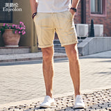 Enjeolon brand top 2018 Summer New Casual Shorts Men Cotton Sim solid white khaki Available Knee length High Quality K6097 - Icymen