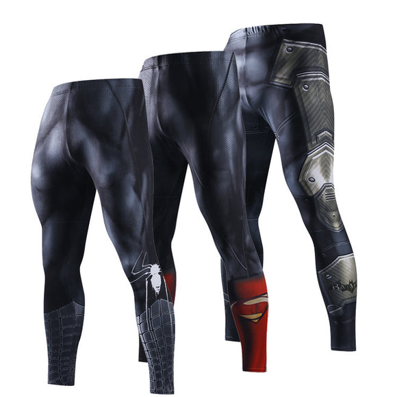Superman 3D Yoga Pants Men Cycling Sport Leggings Camouflage Quick Dry Jogging Tight Pants Gym Fitness Leggings Men