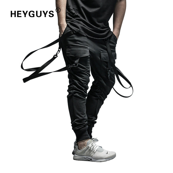 HEYGUYS 2018 New Dry Men's Pants pocket Full Length Men HIPHOP joggers Pants Plus Size Trousers  men belt women streetwear - Icymen