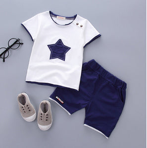 2PCS Suit Baby Boy Clothes Children Summer Toddler Boys Clothing set Cartoon 2018 New Kids Fashion Cotton Cute Stars Sets - Icymen