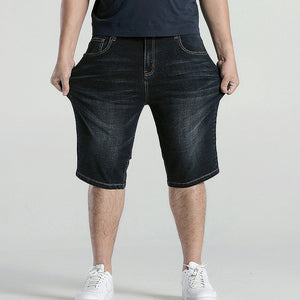 Big Size Short Plus Large 38 40 42 44 46 48 Summer Hot Bermuda Denim Capri Breeches Knee Length 2017 Black Cargo Jean Short Male - Icymen