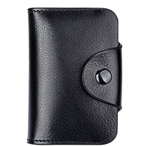 BISI GORO 2018 Men And Women Genuine Leather Unisex Business Card Holder Wallet Bank Credit Card Case ID Holders Women Purse - Icymen