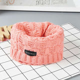 Cute Cotton Winter Baby Scarf Children Girls Boys Knitted Wool O-Scarves Kids Solid Color Warm Scarf - Icymen