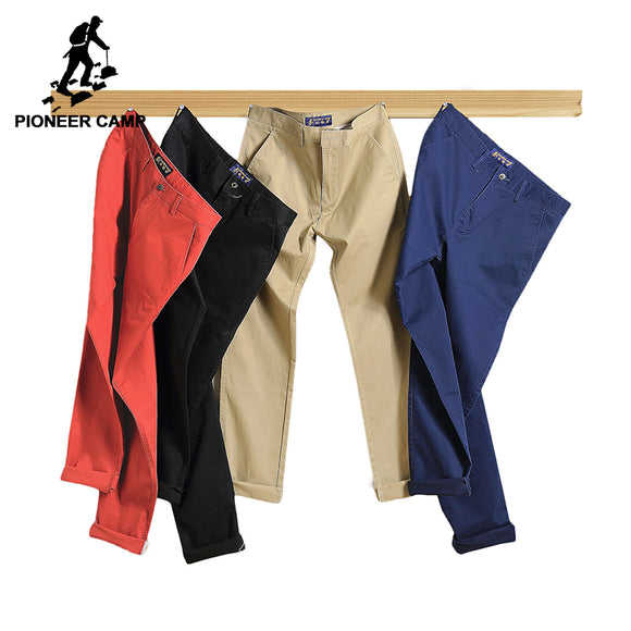 Pioneer Camp 2018 casual pants men Brand clothing High quality Spring Long Khaki Pants Elastic male Trousers for men  655110