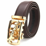 Newest Designer Belts Men High Quality Genuine Leather Famous Brand S Gold Silver Automatic Buckle Belt Waist Strap Male