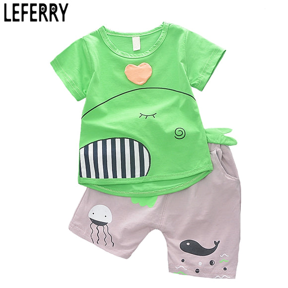 1-4Y 2018 New Fashion Kids Clothes Boys Summer Set Print Shirt Short Pants Baby Boy Clothing Set Toddler Boy Summer Clothes Set - Icymen