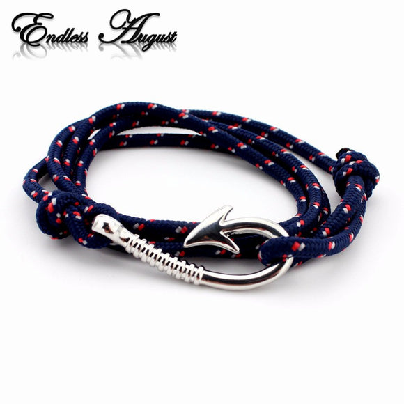 Endless August Multilayer Rope Bracelet pulseras hombre Tom hope Nautical Anchor Sailor Anchor Bracelets men fiendship gifts - Icymen