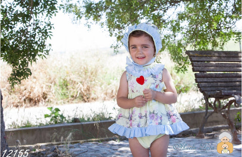 Abuela Tata dress and bonnet