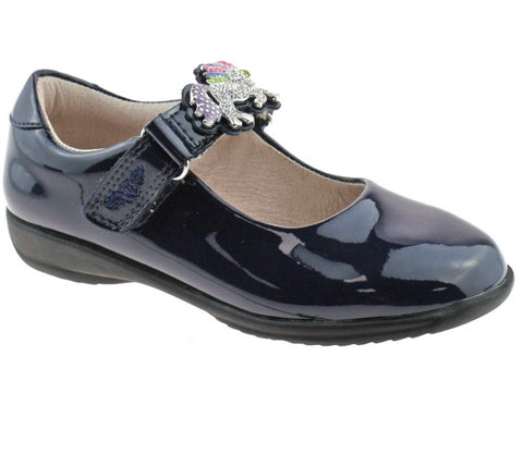 Lelli kelly navy patent unicorn shoe
