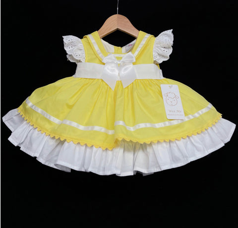 Wee me yellow frill dress