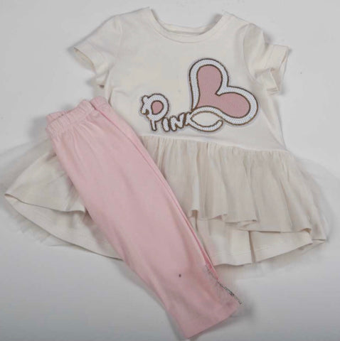 Daga pink heart leggings set 8385