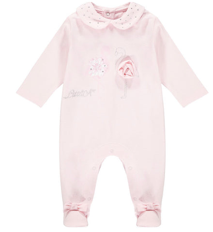 Little A Jayden flamingo baby grow ls21101