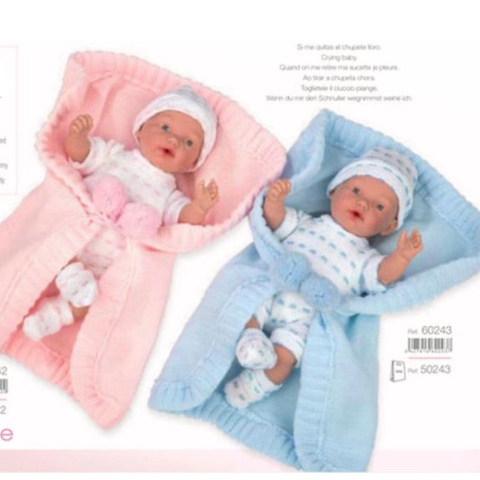 Spanish baby doll with snug pink