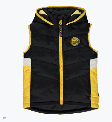 Mitch and son Wesley gilet black ms1404