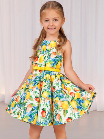 Abel and Lula pattered dress 5039