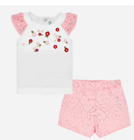 Mayoral toddler short set 1234 pink k