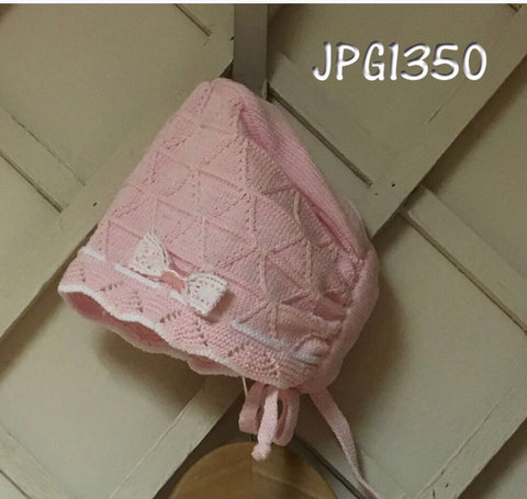 Pretty originals bonnet pink knit