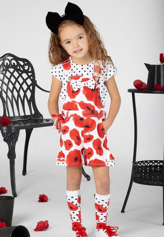 A dee poppy dungaree set s201503