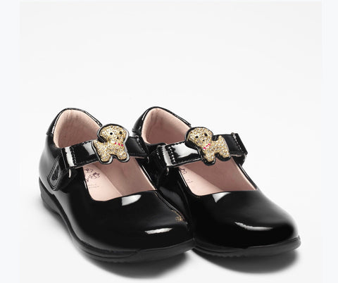 Lelli kelly poppy changeable straps black patent shoes