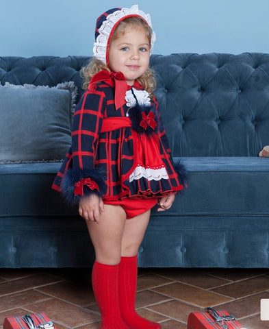 Abuela TATA girls dress , knickers and bonnet
