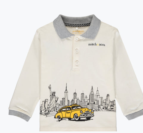 Mitch and son Emett taxi polo top ms1413