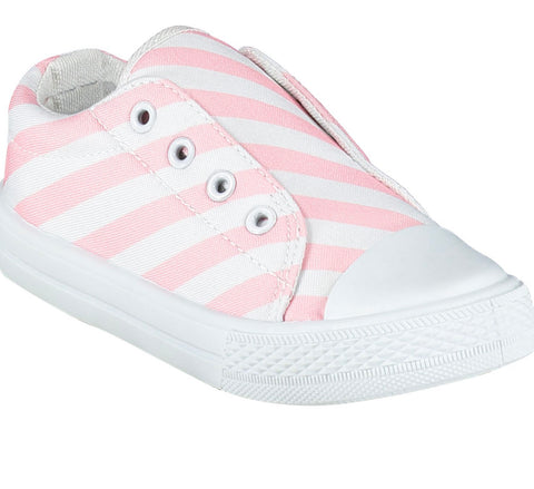 A dee laceless printed canvas trainer pink/white s215101