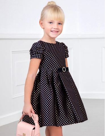 Abel and Lula polka dot dress 5567
