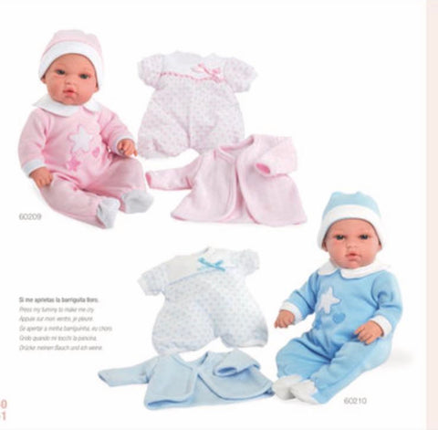spanish baby doll 60210 with clothes blue