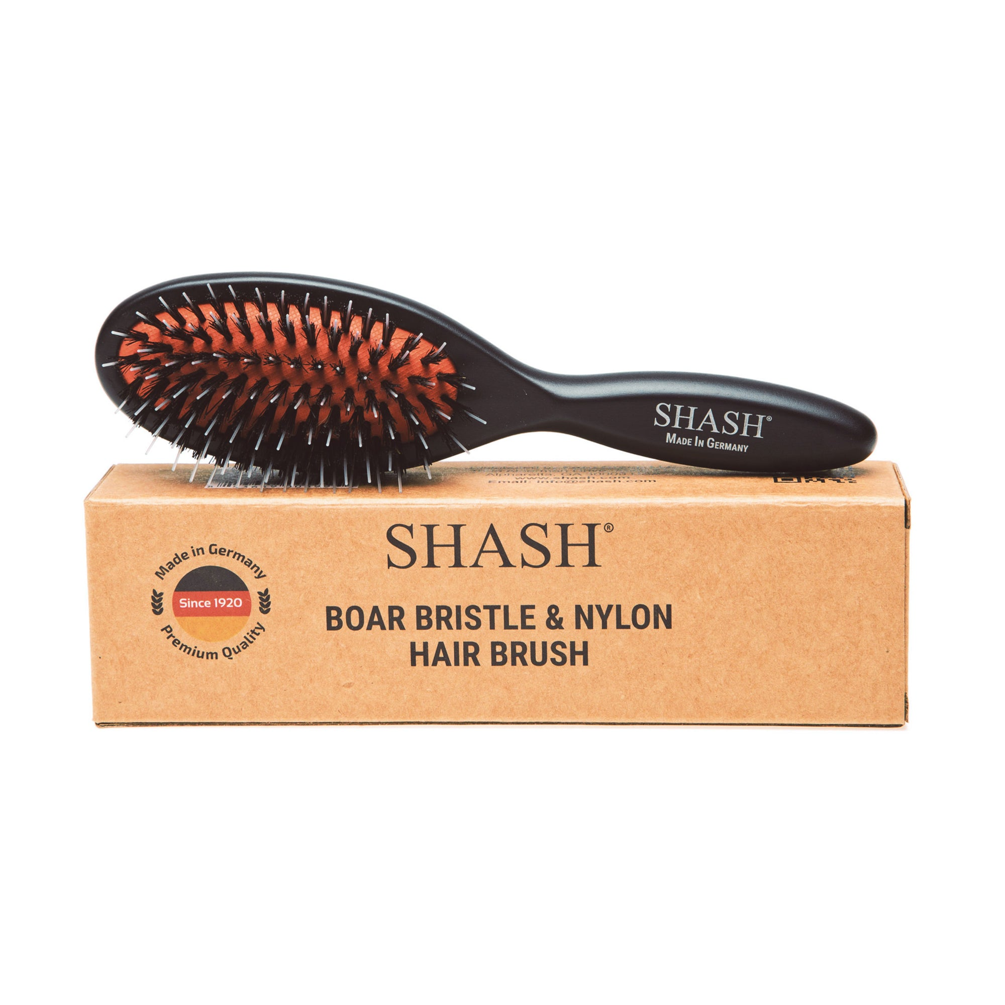 BOAR AND NYLON BRISTLE HAIR BRUSH - SMALL