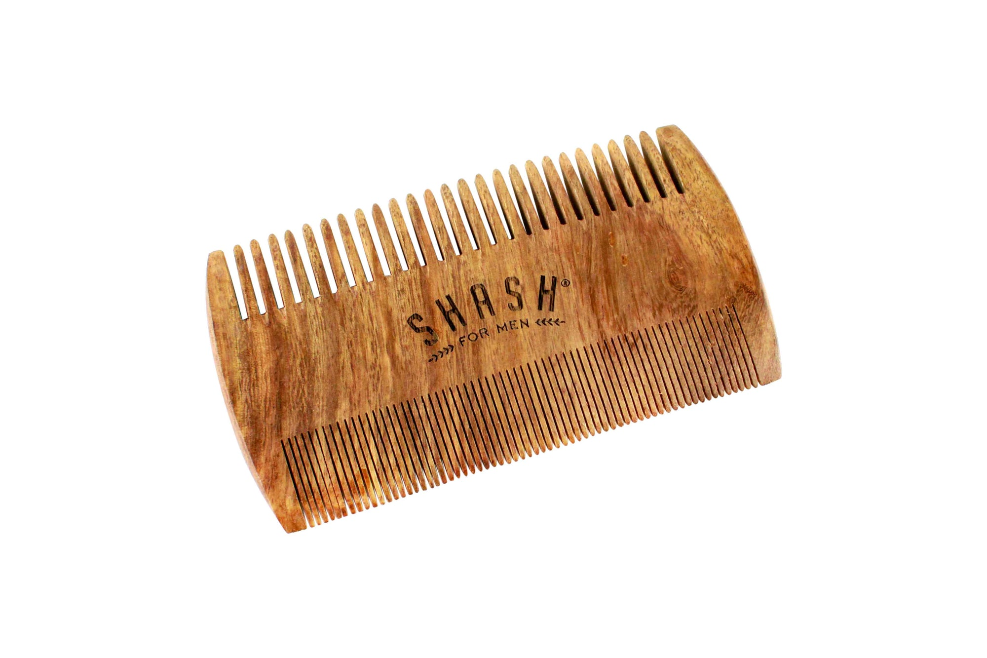 2-SIDED SANDALWOOD BEARD COMB